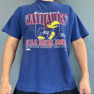 Vintage 90s NCAA Final 4 U. of Kansas Tee Size M